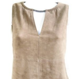 W by Worth Genuine Suede Leather Dress Lined XS